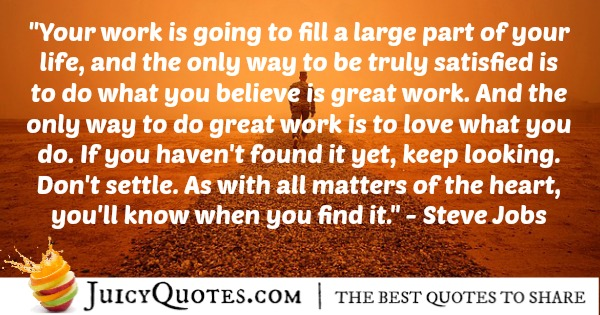 Quote About Inspiration - Steve Jobs