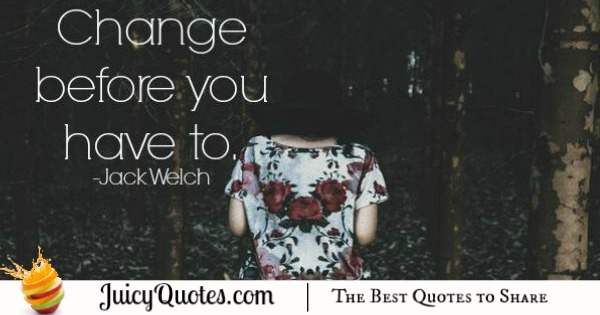 Quote About Change - Jack Welch