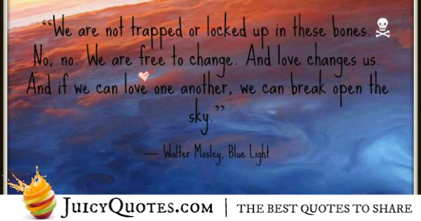 Quote About Change - Walter Mosley