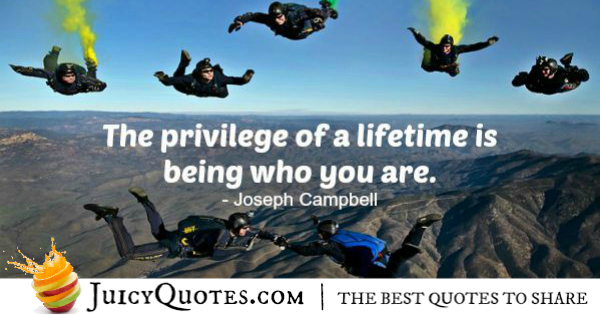 Quote About Life - Joseph Campbell