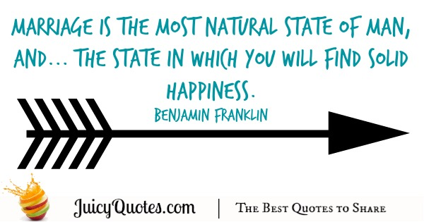 Happy Anniversary Quote - Benjamin Franklin