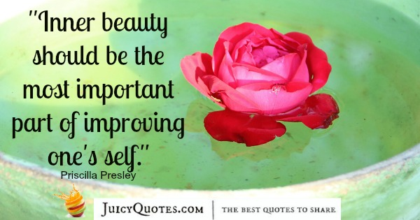 Quote About Beauty - Priscilla Presley