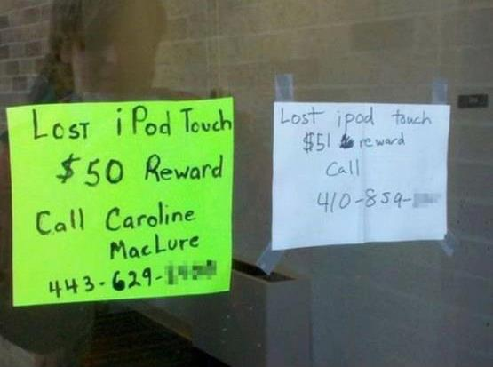 funniest lost notice signs