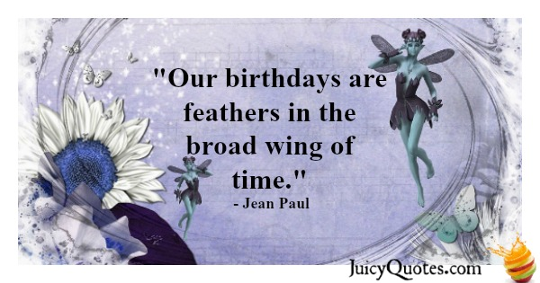 Birthday Quote - Jean Paul