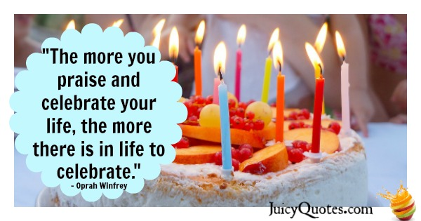 Birthday Quote - Oprah Winfrey