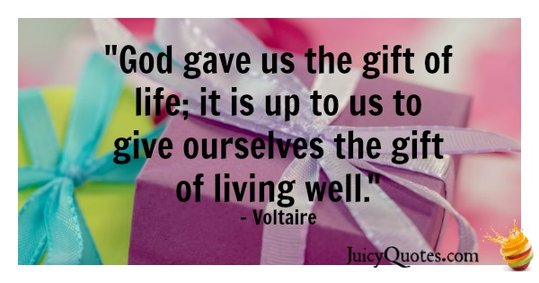 Birthday Quote - Voltaire