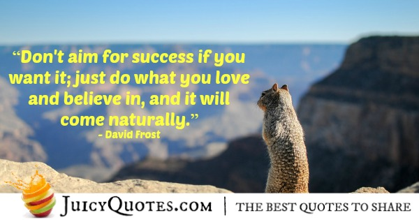 Quote About Believe - David Frost