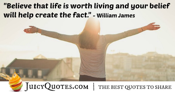 Quote About Believe - William James