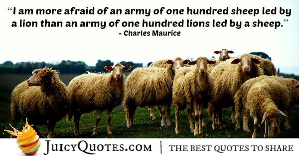 Quote About Leadership Charles Maurice With Picture
