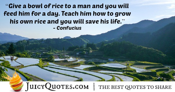 Quote About Work - Confucius