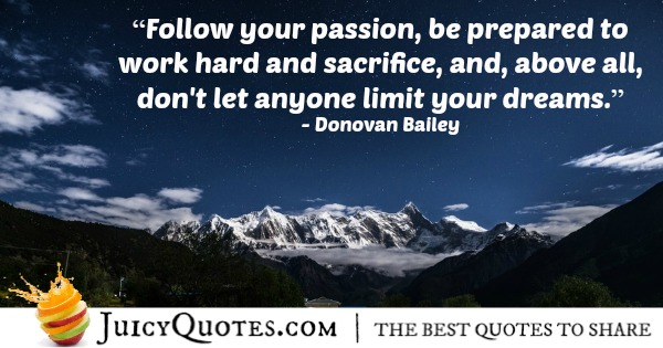 Quote About Work - Donovan Bailey