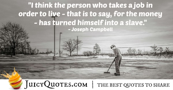Quote About Work - Joseph Campbell