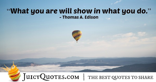 Quote About Work - Thomas A. Edison - 3
