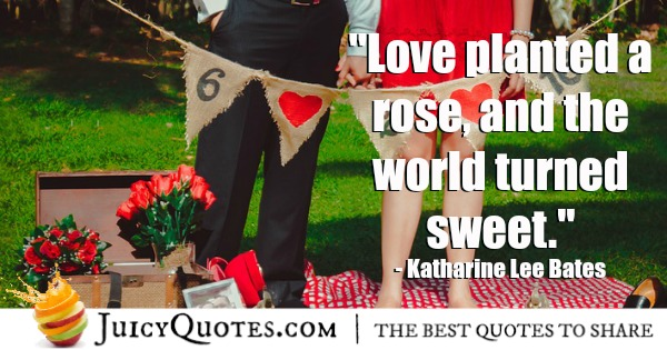 Romantic Quote - Katharine Lee Bates