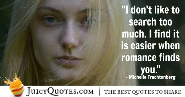 Romantic Quote - Michelle Trachtenberg