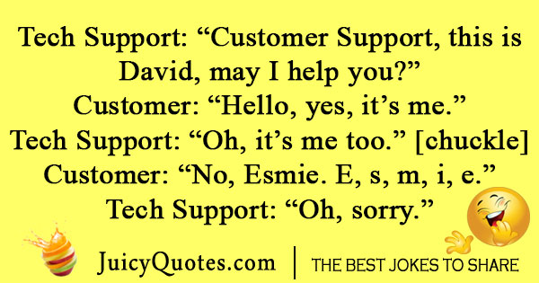 Call Center Name Joke
