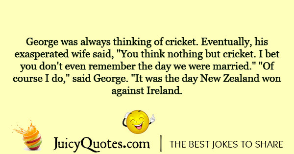 Cricket Joke - 7