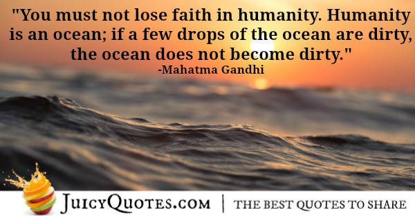Mahatma Gandhi quote about humanity