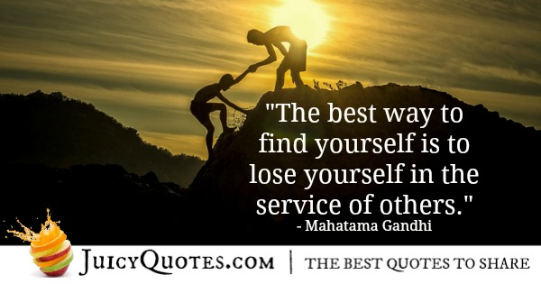 Mahatma Gandhi quote about serving