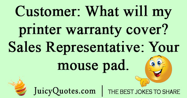 Printer Warranty Joke