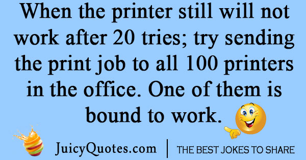 Broken Printer Joke