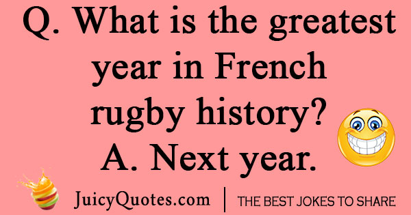 French Rugby Joke