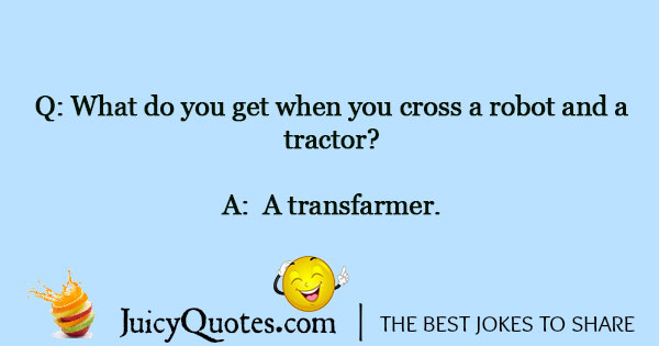 Funny Tractor Pun With Picture