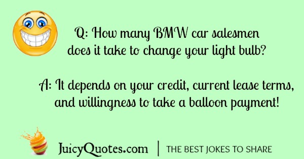BMW joke about changing light bulbs