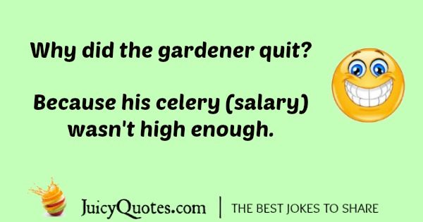 Flower joke about a gardener