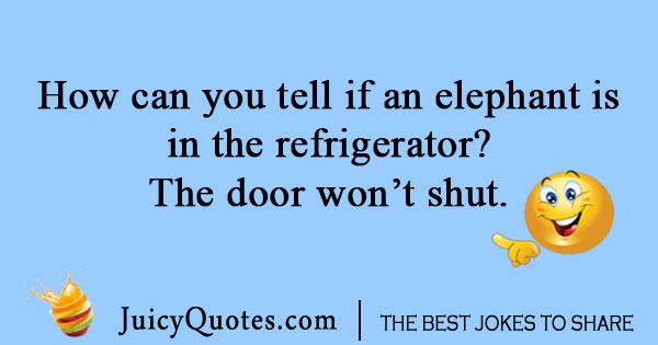 Elephant and refrigerator joke