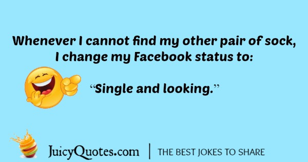 funny joke about changing your Facebook status.