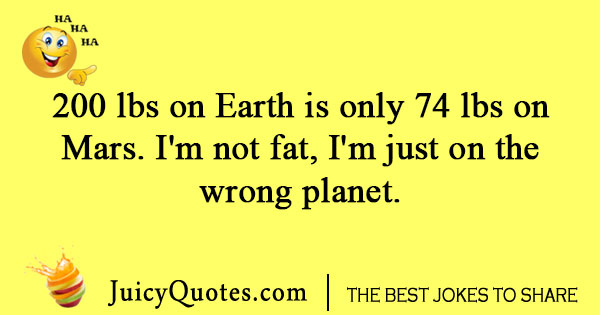 One Liner joke about planet earth