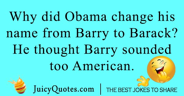 Barry Barrack Joke
