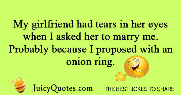 Onion ring proposal joke