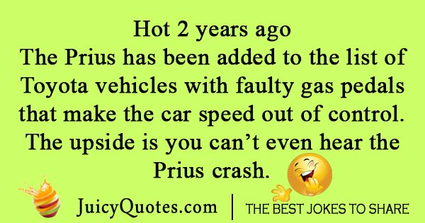 Speeding Prius Joke