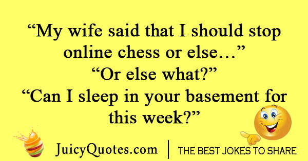 Wife chess joke