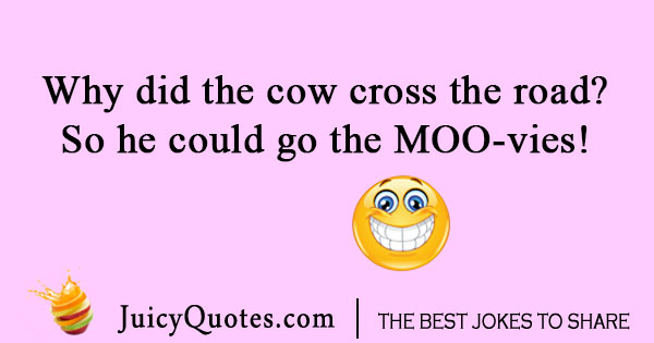 Cow cross the road joke