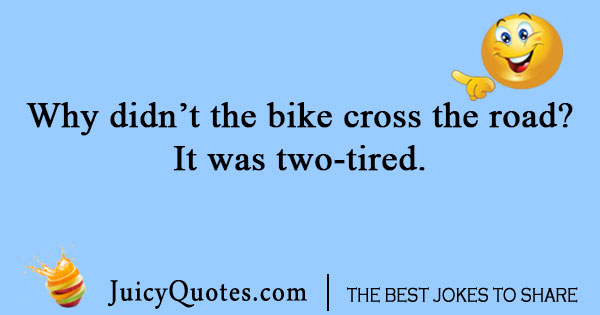 Bike cross the road joke