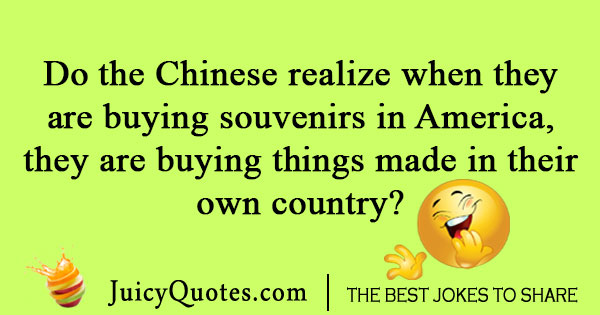 Chinese souvenir jokes