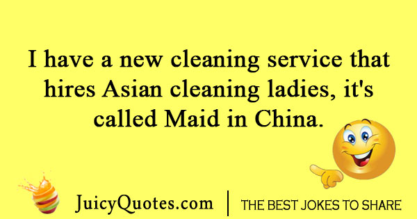 Chinese cleaning service joke