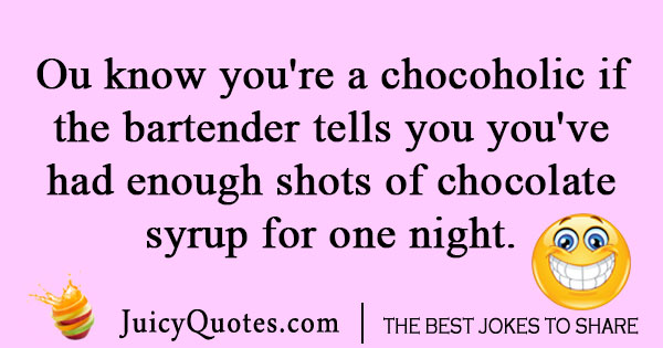 Chocolate syrup joke