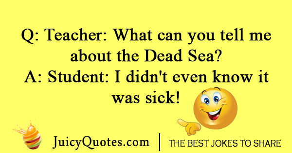 Dead Sea geography joke