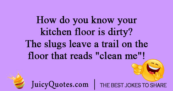 Snail in kitchen joke