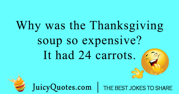 Thanksgiving joke about carrots