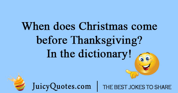 Thanksgiving dictionary joke