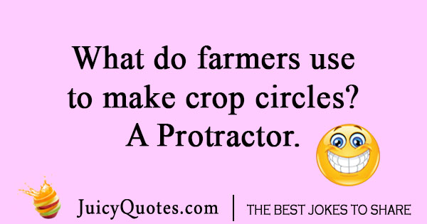 Crop circle farmer joke