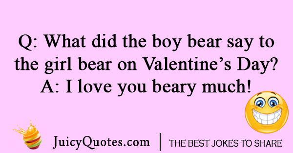 Bear Valentines Day joke