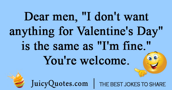 Valentines Day lie joke