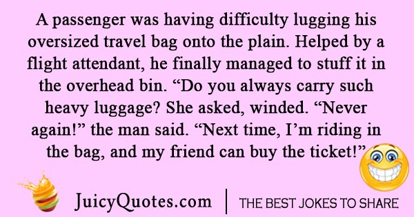 Airplane luggage joke