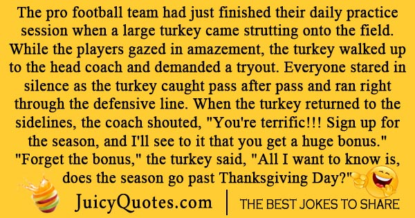 Thanksgiving football joke